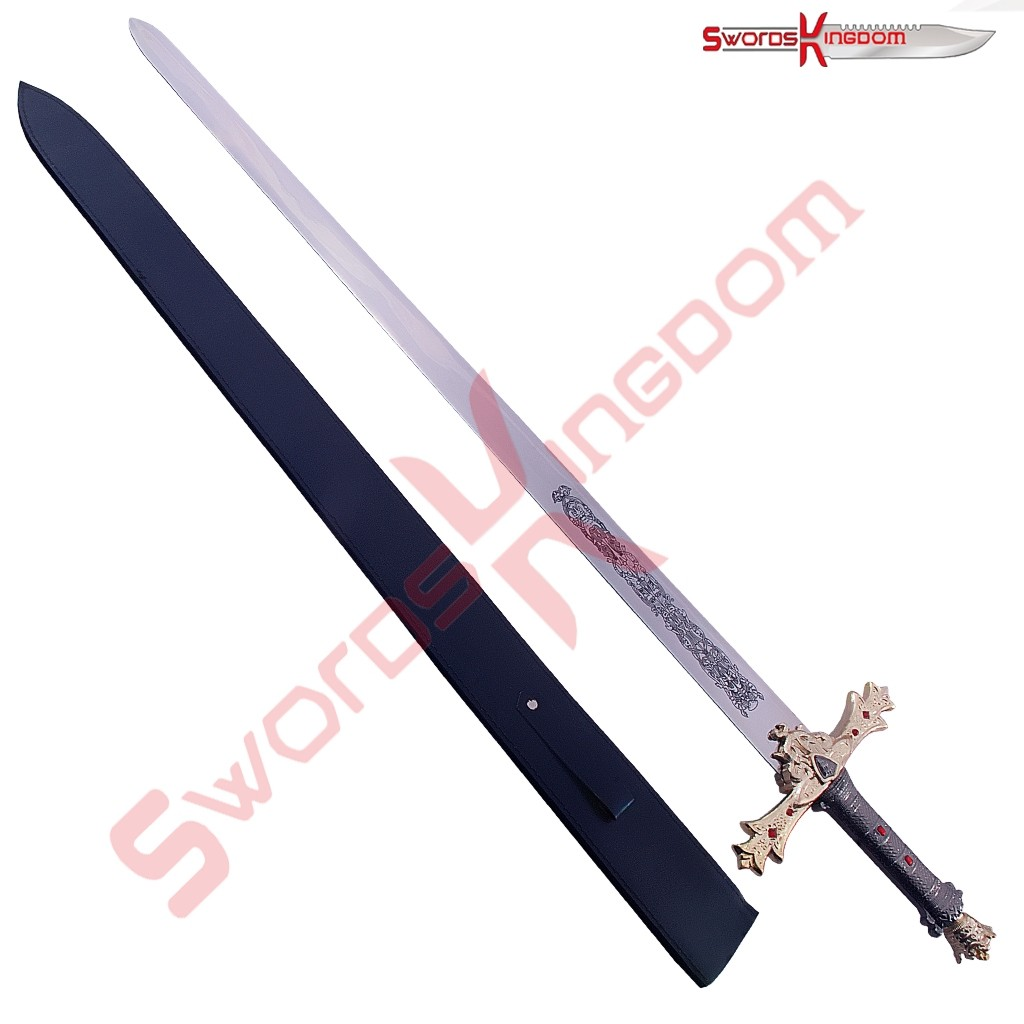 King Arthur Excalibur Sword in the Stone Gold Edition