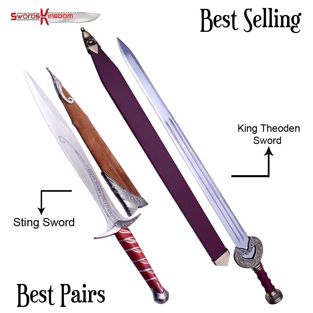 King Theoden Herugrim Sword Replica & Sting Sword Replica from Lord of the Rings