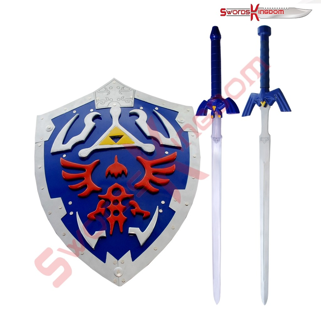 Link Hylian Shield with 2 Master Swords Set