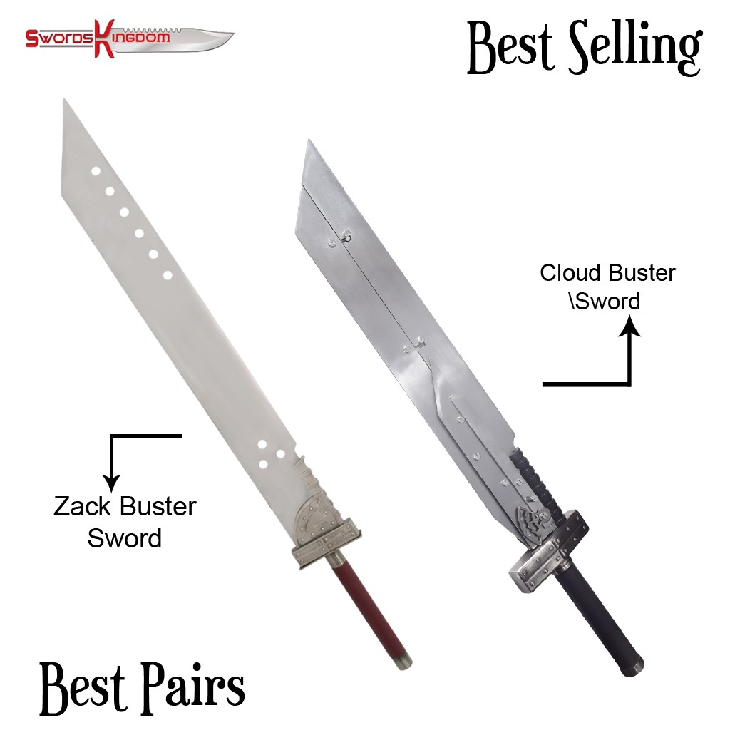 Zack Buster Sword 42 Inches from Final Fantasy & Cloud Advent Children Buster Fusion Sword