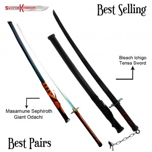Anime Inspired Bankai Sword 68 inches & Masamune Sephiroth Giant Odachi from Final Fantasy