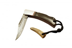 Buffalo Horn Scales Folding Knife