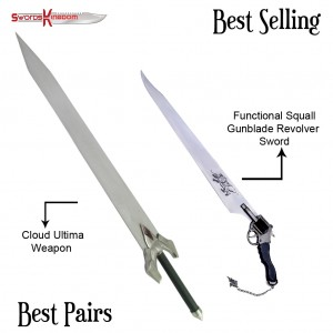 Cloud Strife Ultima Weapon Sword Replica & Functional Squall Gunblade from Final Fantasy