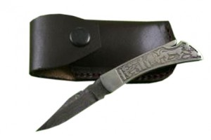 Damascus Steel Folding Knife