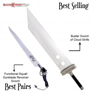 Functional Squall Gunblade from Final Fantasy & Final Fantasy Cloud Strife Buster Sword